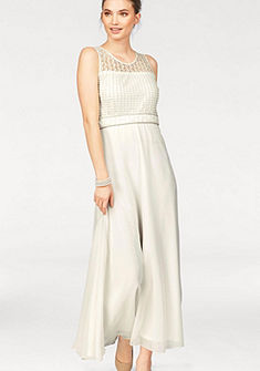 Laura Scott Večerné šaty, ozdobné perly a čipka