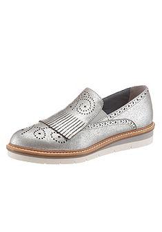Tamaris slip on cipő fémes hatású bőrből