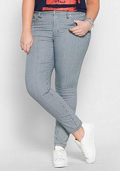 Úzké strečové kalhoty s prúžkami