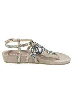 XYXYX Sandály s klínovým podpatkem