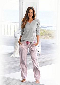 Arizona hosszú ujjú pizsama kockás nadrággal