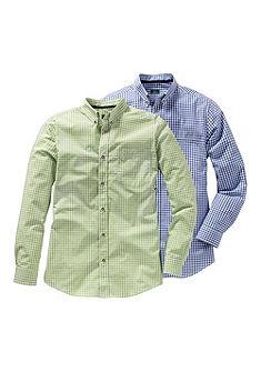 Luis Steindl Pánská krojová košile s kostkou v balení po 2 kusech
