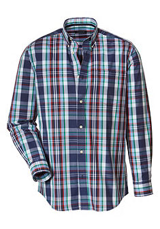 Highmoor Krojová kockovaná košeľa s gombíkmi na golieri
