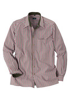 Luis Steindl Krojová kockovaná košeľa srovným okrajom