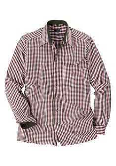 Luis Steindl Krojová károvaná košile s rovným zakončením lemu