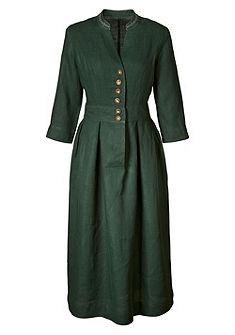 Luis Steindl Lněné šaty s výšivkou