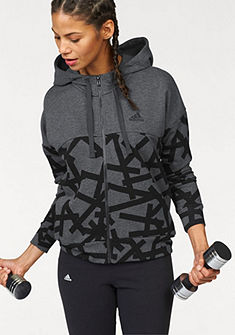 adidas Performance Mikina s kapucňou »ESSENTIALS ALL OVER PRINT FULL ZIP HOODIE«