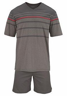 Schiesser Krátké pruhované pyžamo