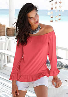 s.Oliver RED LABEL Beachwear carmen nyakkivágású póló