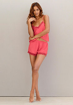 Skiny Letní Pyžamo s krajkovou ozdobou