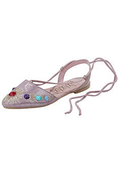 XYXYX hátul nyitott balerinacipő