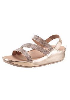 FitFlop Klinové sandále »Cristall Z-Strap Sandal«