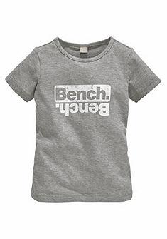 Bench kereknyakú póló melírozott hatással vintage hatású mintával