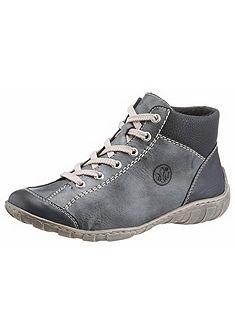 Rieker Šnurovacie topánky vysoké s kontrastným švom