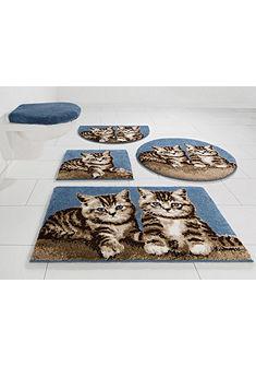 Koupelnová předložka, kruh, GRUND, »mačiatko«, výška 20 mm, protiskluzová úprava
