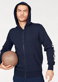 adidas Performance kapucnis hosszú ujjú póló »ESSENTIALS LINEAR FULL-ZIP HOOD FLEECE«