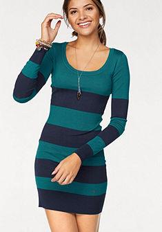 AJC Pletené šaty s blokovými pruhy nebo jednobarevné