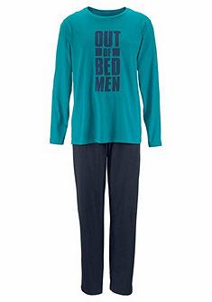 Le Jogger elöl nyomott mintás pizsama, hosszú