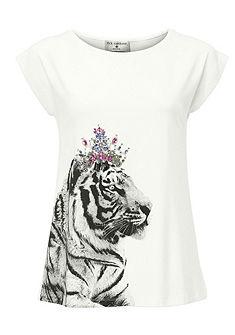 RICK CARDONA by heine Vzorkované tričko s kamienkami