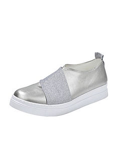 Andrea Conti Nazúvacie topánky, tvar s lesklým vzorom