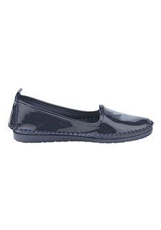 Andrea Conti Nazúvacie topánky z lesklej, hovädzej lakovanej kože