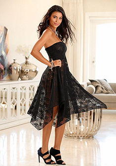 LASCANA Variabilná sukňa s transparentnou čipkou