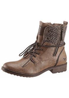 Mustang Shoes Šněrovací krátké kozačky