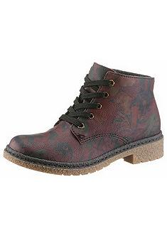 Rieker fűzős műbőr cipő virágnyomásos mintával