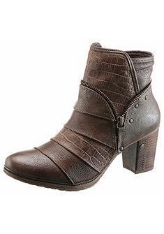 Mustang Shoes rövidszárú csizma hüllő mintával