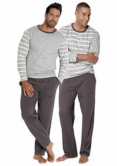 Le Jogger Pyžama dlhá (2 ks) pruhovaná