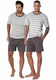 Le Jogger Pyžama krátka, (2 ks) pruhovaná