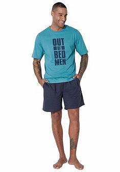 Le Jogger elöl nyomott mintás  pizsama, rövid