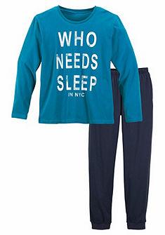 Fiú pizsama felirattal