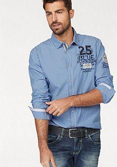 CAMP DAVID csíkos ing, trendi applikációkkal