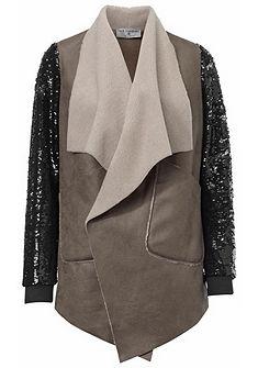 RICK CARDONA by Heine műbőr dzseki 2 színű flitterekkel
