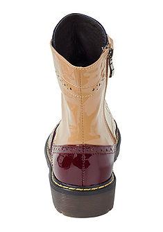 Andrea Conti magasszárú cipő lyukmintás mintázattal