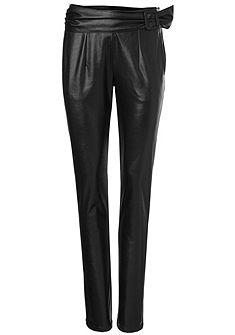 ASHLEY BROOKE by heine Koženkové kalhoty s ozdobným pasem