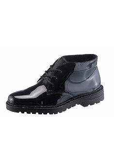 Rieker Šnurovacie členkové topánky lakované