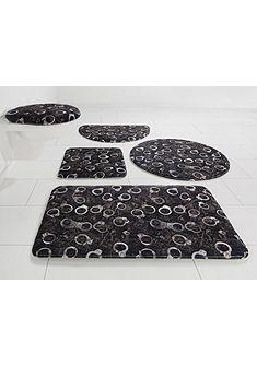 Kúpeľňová predložka, 3-dielna súprava pre štandardné WC, Bruno Banani »želiezka« výška 14 mm
