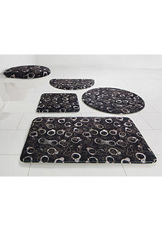 Koupelnová předložka, kruh, Bruno Banani »želízka« výška 14 mm