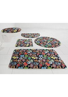 Kúpeľňová predložka, 3-dielna súprava pre štandardné WC, Bruno Banani »zámky« výška 14 mm