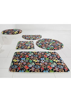 Koupelnová předložka, půlkruh, Bruno Banani »zámky« výška 14 mm