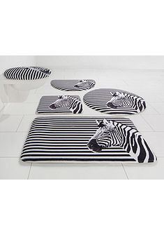 Koupelnová předložka, půlkruh, Bruno Banani »zebra« výška 14 mm
