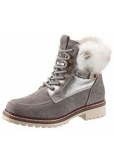 Tamaris Šněrovací boty vysoké