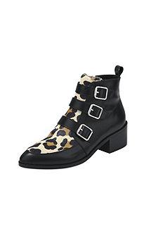 heine Krátké kozačky so vzorom leopardí