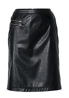 B.C. BEST CONNECTIONS by heine Koženková sukňa a dekoračné zipsy