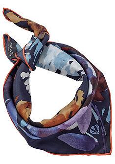 Fraas színes selyem kendő nyomott mintával