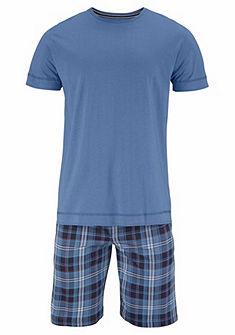 Jockey Kostkované krátké pyžamo