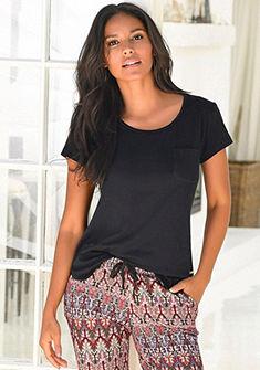 LASCANA Základné tričko s krátkym rukávom s okrúhlym výstrihom