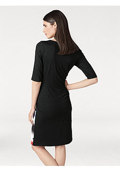 ASHLEY BROOKE by heine Puzdrové šaty s koženkovou vsadkou